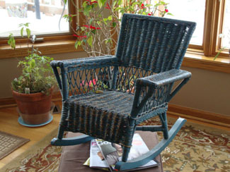 This wicker rocker was made by the Nebraska State Penitentiary shop in 1920. While CSI does not make wicker items anymore, we still have a complete line of fine furniture for offices, schools, and libraries!
