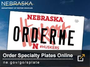 Order Specialty Nebraska Plates Online